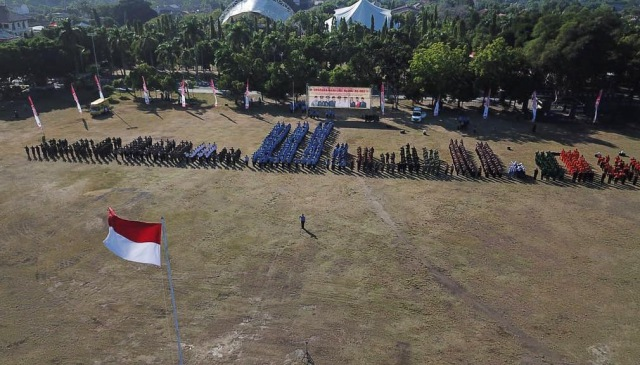 Upacara Hari Jadi Ngawi ke 660 tahun, Sabtu (07/07/2018) di Alun-alun Merdeka. Foto-Dok. Diskominfo Ngawi