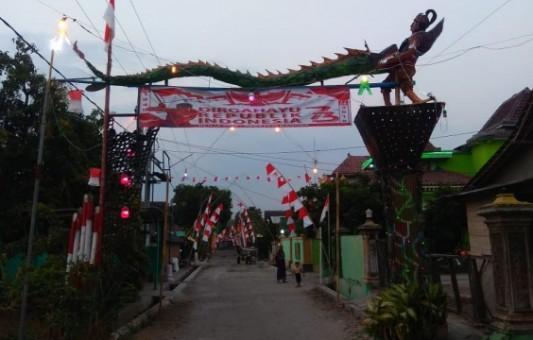 Desa Ngompro Berhias Unik Semarakkan Bulan Kemerdekaan