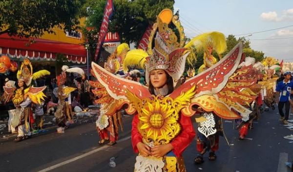 Penampilan dari salah satu peserta Karnaval Ngawi 2018. Foto-Istimewa