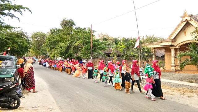 Karnaval TK dan PAUD se-Kecamatan Bringin, Jumat (10/08/2018). Foto-KampoengNgawi.com/Alfa