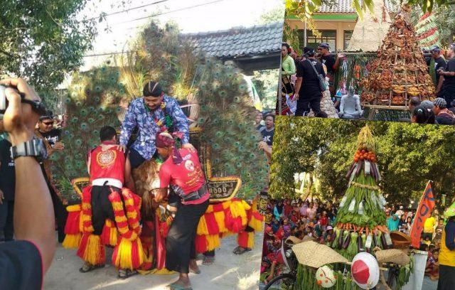 Kirab Budaya Desa Dempel Semarak Luar Biasa. Foto-Collage
