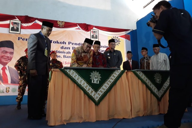 Menteri Pendidikan, Muhadjir Effendy Resmikan Gedung Madrasah Diniyah dan STIT Muhammadiyah Tempurejo, Rabu (08/08/2018). Foto-Istimewa/Im