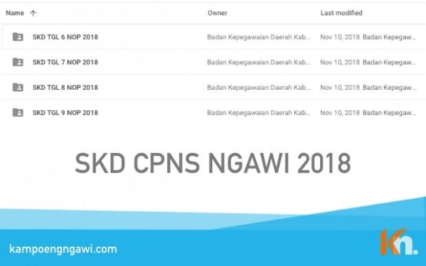 Hasil Tes Seleksi Kemampuan Dasar CPNS Ngawi 2018