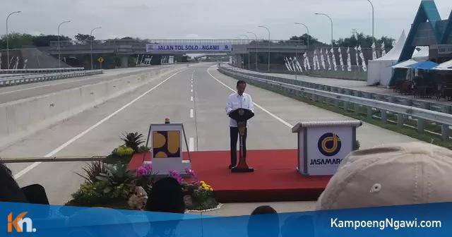 Presiden Joko Widodo Meresmikan Tol Ngawi-Sragen, Rabu (28/11/2018). Foto-Istimewa