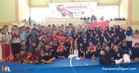 Padepokan Kosegu Ngawi Menjadi Juara Umum dalam Kejuaraan Pencak Silat Bupati Cup V dan Kapolres Cup II tahun 2018