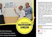 Karya Krisna Menjadi Juara 3 dan Favorit Sayembara Desain Info Grafis BPK RI