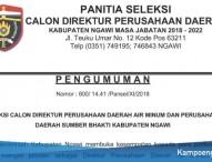 Jadwal Tahapan Seleksi Calon Direktur PDAM dan PD Sumber Bhakti Ngawi