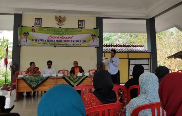 Pemkab Ngawi Sosialisasikan Penempatan TKI Luar Negeri di Desa Keras Kulon