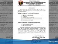 Hasil Seleksi Administrasi Calon Direktur PDAM dan PD Sumber Bhakti Ngawi