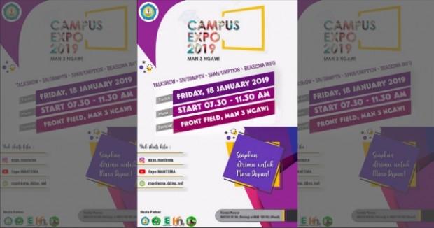 Campus Expo 2019 MAN 3 Ngawi 18 Januari 2019