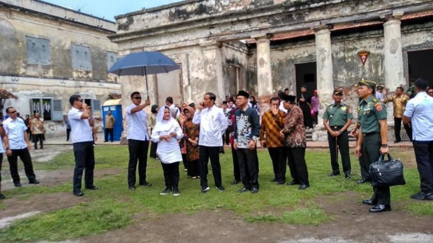 Jokowi Sampaikan Bahwa Wisata Heritage Benteng Pendem Ngawi Harus Selalu Dijaga