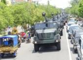 18 Meriam Caesar Armed 12/Kostrad Kirab Keliling Ngawi