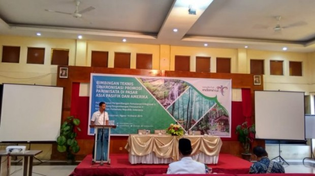 Kemenpar Berikan Bimtek Sinkronisasi Promosi Pariwisata Pasar Asia Pasifik dan Amerika di Ngawi