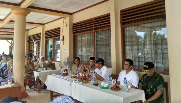 Muhadjir Effendy Kunjungi SMPN 1 Kwadungan Sampaikan Kurikulum Kebencanaan
