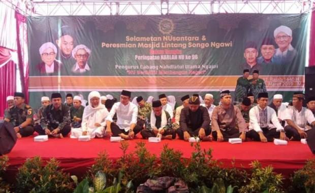 PCNU Ngawi Menggelar Selametan Nusantara dan Peresmian Masjid Lintang Songo