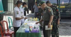 Anggota Kodim 0805 Ngawi Ikuti Penyuluhan P4GN dan Tes Urine