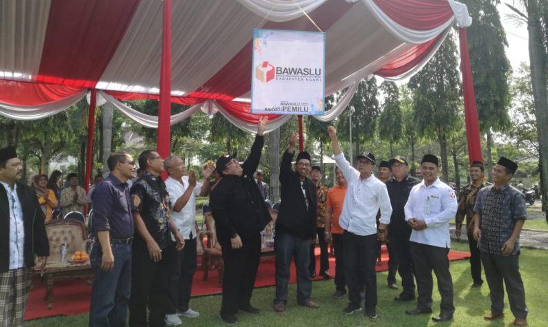 Apel Akbar Badan Pengawas Pemilu kabupaten Ngawi, Jumat (12/03/2019). Foto-Istimewa