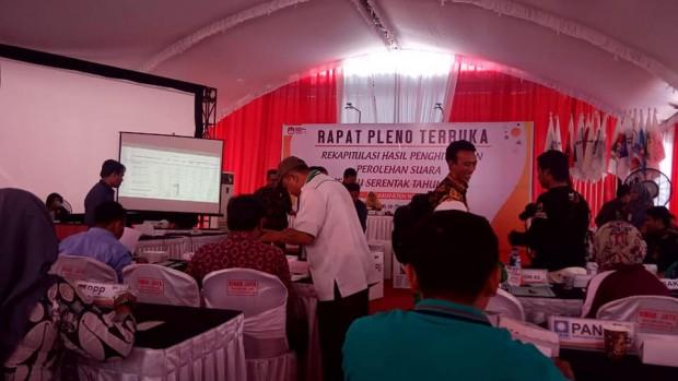 KPU Ngawi Sampaikan Rekapitulasi Hasil Perhitungan Perolehan Suara Pilpres 2019