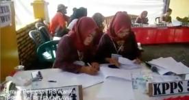 Uniknya TPS 04 Kelurahan Pelem dengan Seluruh Petugasnya adalah Perempuan