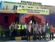 Pos Tepadu Polres Ngawi Ciptakan Kondisi Lebaran Aman dan Kondusif