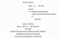 Berikut Ketentuan Jam Kerja ASN di Lingkup Pemkab Ngawi Selama Bulan Ramadhan 1440 H
