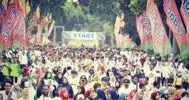Forkopimda Ngawi Ajak Masyarakat Olahraga Bersama dan Deklarasi Anti Kerusuhan di Alun-Alun Ngawi
