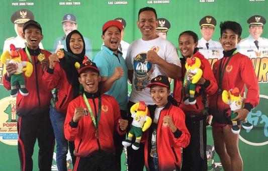 Cabor Muathay Ngawi Raih Juara Umum di Porprov VI Jatim