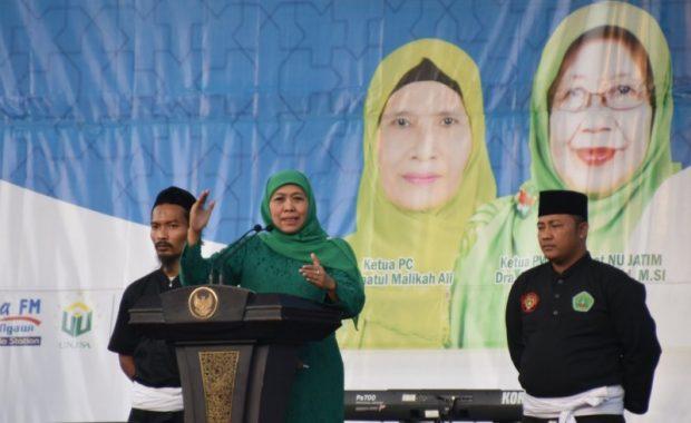 Penutupan Pasar Rakyat Muslimat NU Ngawi Dihadiri Gubernur Khofifah