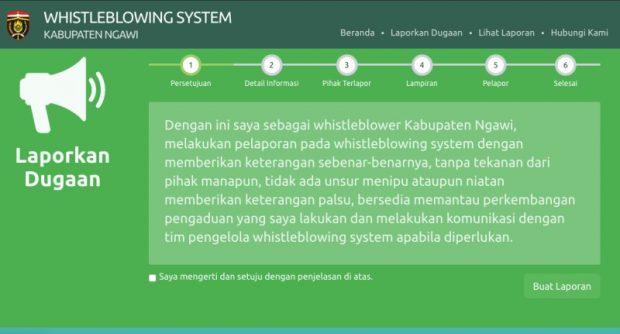 Laporkan Dugaan Tindakan Korupsi di Ngawi Melalui Whistleblowing System Ini