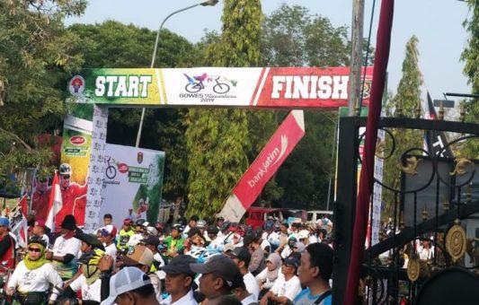 Ribuan Peserta Ikuti Gowes Nusantara 2019 di Kabupaten Ngawi