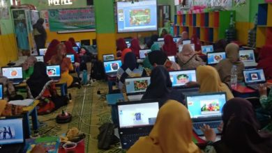 Photo of Puluhan Guru Yayasan Pendidikan Muslimat NU Ngawi Ikuti Pelatihan Power Point