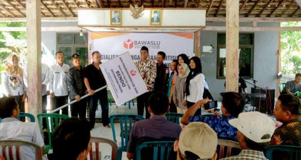 Desa Bendo Dijadikan Sebagai Desa Anti Politik Uang Mitra Pengawasan Bawaslu Ngawi