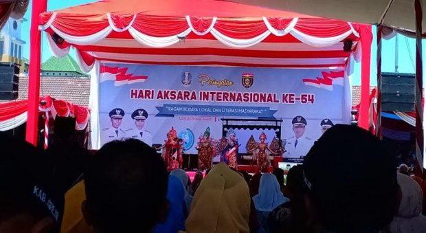 Puncak Hari Aksara Internasional ke-54 Provinsi Jawa Timur Digelar di Alun-Alun Ngawi