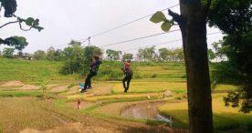 Bupati Ngawi Ajak Wisatawan Rasakan Sensasi Luar Biasa Flying Fox di Wisata Kayangan