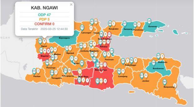 Update COVID-19 di Kabupaten Ngawi 25 Maret 2020