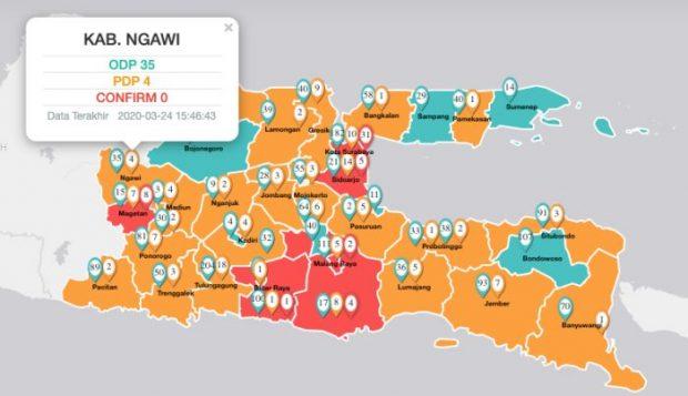 Update Jumlah Kasus COVID-19 di Kabupaten Ngawi