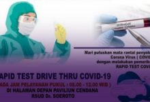Photo of RSUD dr. Soeroto Ngawi Membuka Pelayanan Drive Thru Rapid Test COVID-19