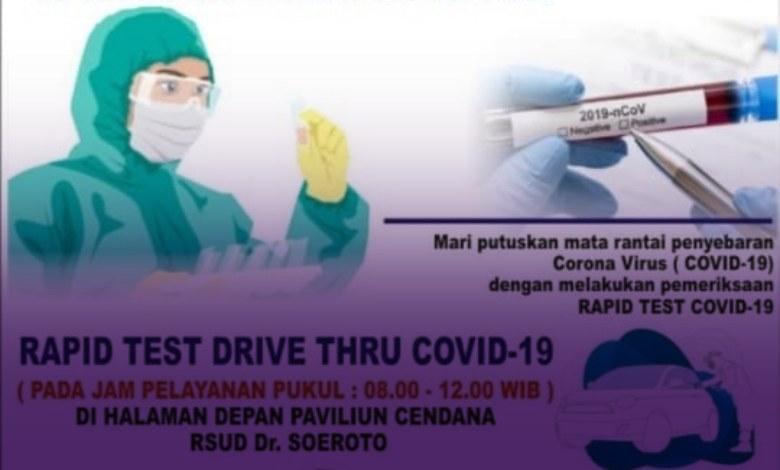 Photo of RSUD dr. Soeroto Ngawi Membuka Pelayanan Drive Thru Rapid Test COVID-19
