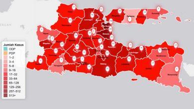 Photo of Akhirnya Seluruh Wilayah di Jawa Timur Menjadi Zona Merah COVID-19