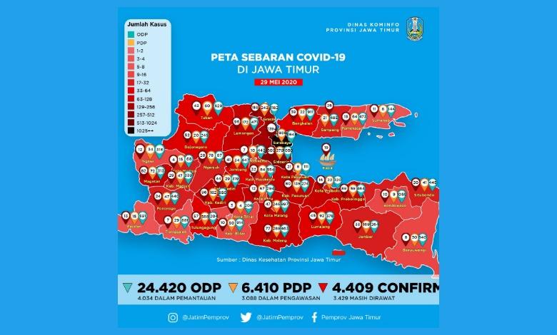 Photo of Inilah Lonjakan Kenaikan Kasus Positif COVID-19 di Jawa Timur selama Lima Hari Terakhir