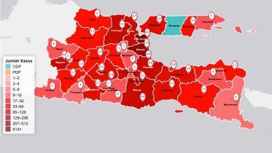 Photo of Rincian Jumlah Kasus Positif COVID-19 Tiap Daerah di Provinsi Jatim per 9 Mei 2020