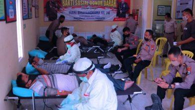 Photo of Sambut Hari Bhayangkara ke-74, Polres Ngawi Gelar Bakti Sosial Donor Darah