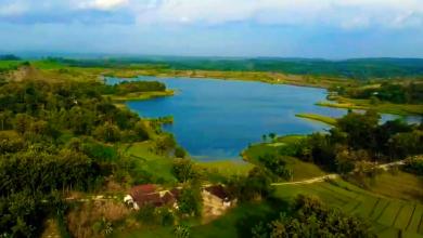 Photo of Indahnya Pemandangan Udara Waduk Kedung Bendo Desa Gunungsari