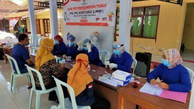 Photo of Serentak di 19 Kecamatan, Ribuan Petugas Penyelenggara Pilkada Ngawi Jalani Rapid Test