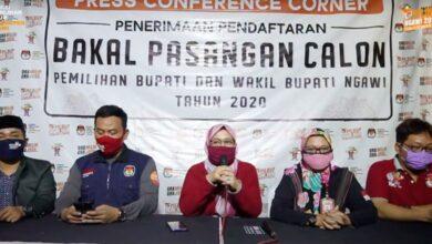 Photo of KPU Ngawi Sampaikan Tidak Ada Pendaftar Baru dalam Masa Perpanjangan Waktu Penerimaan Peserta Pilkada 2020